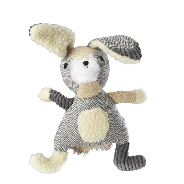 Bushy Tail Tweed Hare Dog Toy