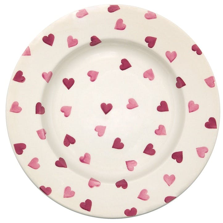 Pink Hearts Plate, 27cm