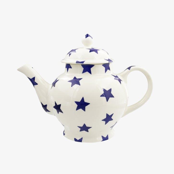 Blue Star Teapot, 4 Mug