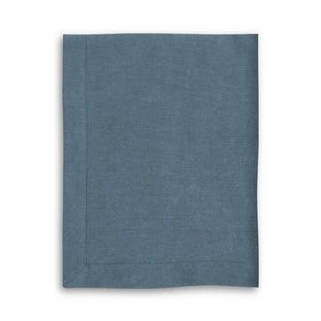 Mitered Hem Tablecloth, Parisian Blue, 160 x 325cms