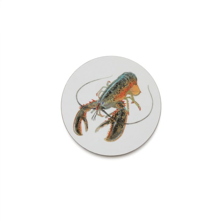 Seaflower American Lobster Coaster, 10cm, Multi