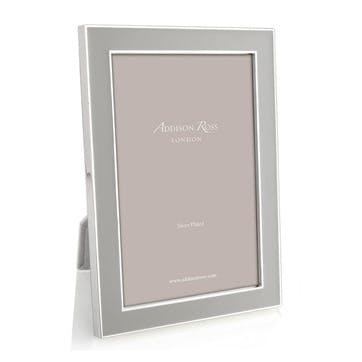 Chiffon Enamel & Silver Photo Frame