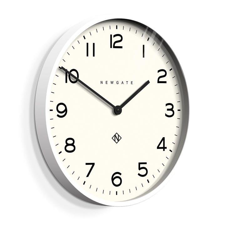 The Echo Clock, 53cm; Pebble White