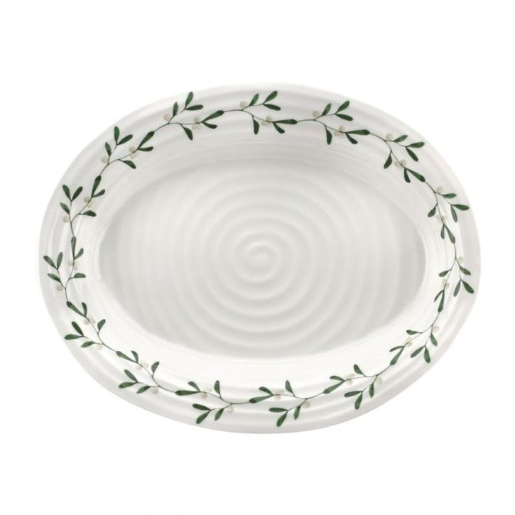 Mistletoe Oval Platter