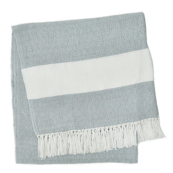Hammam Blanket, 2 x 1m, Dove Grey