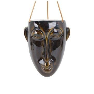 Oval Mask Hanging Planter