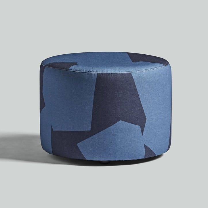 Longis, Roger Lewis Collaboration, Pouffe, H39 x W50cm, Navy
