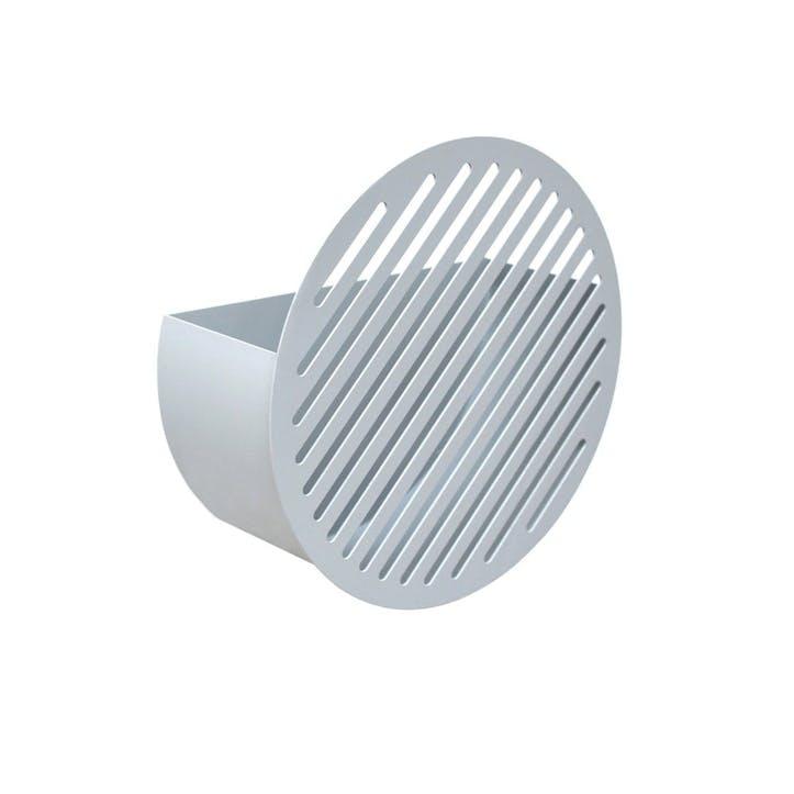 Diagonal, Small Wall Basket, Grey