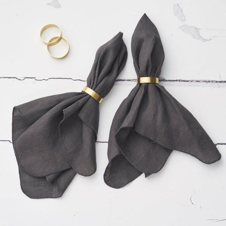 Jewel Linen Napkin, Shadow Grey