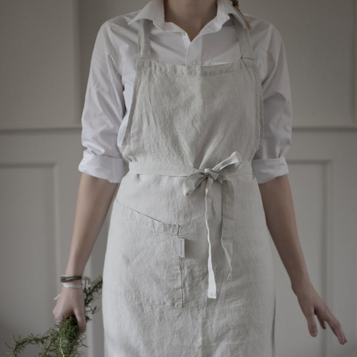 Apron, Dove Grey