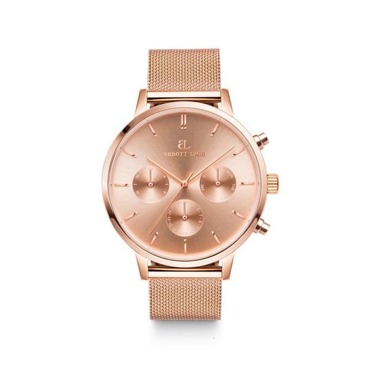 Nueva Chain Watch, Rose Gold