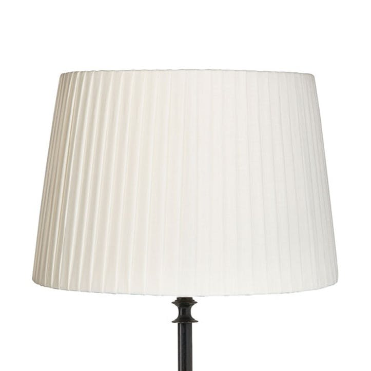 Off-White Pleated Linen Lampshade, 35cm