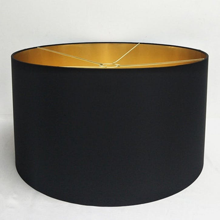 Metallic Lined Shade - 55cm; Black & Gold