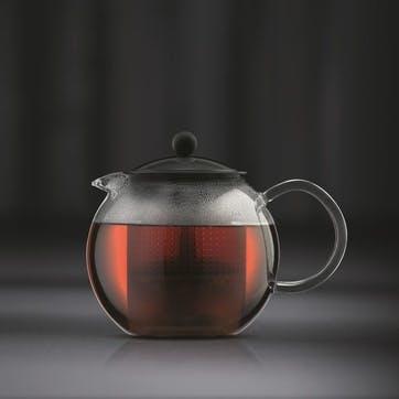 Assam, Tea Press, 0.5 Litre, Black/Clear
