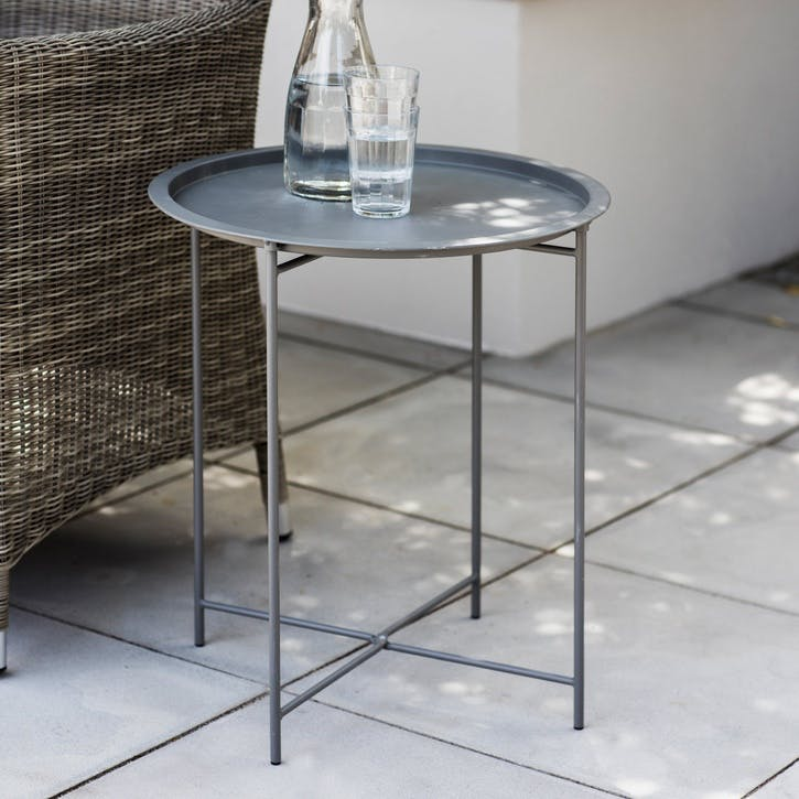 Rive Droit Bistro Tray Table, Clay