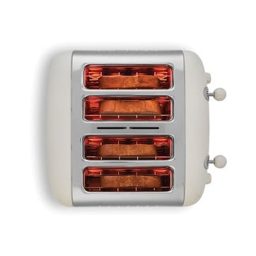 Lite Toaster - 4 Slot; Canvas White