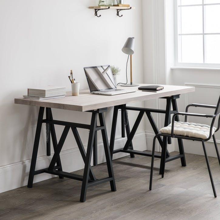 Workshop Trestle Desk, Carbon