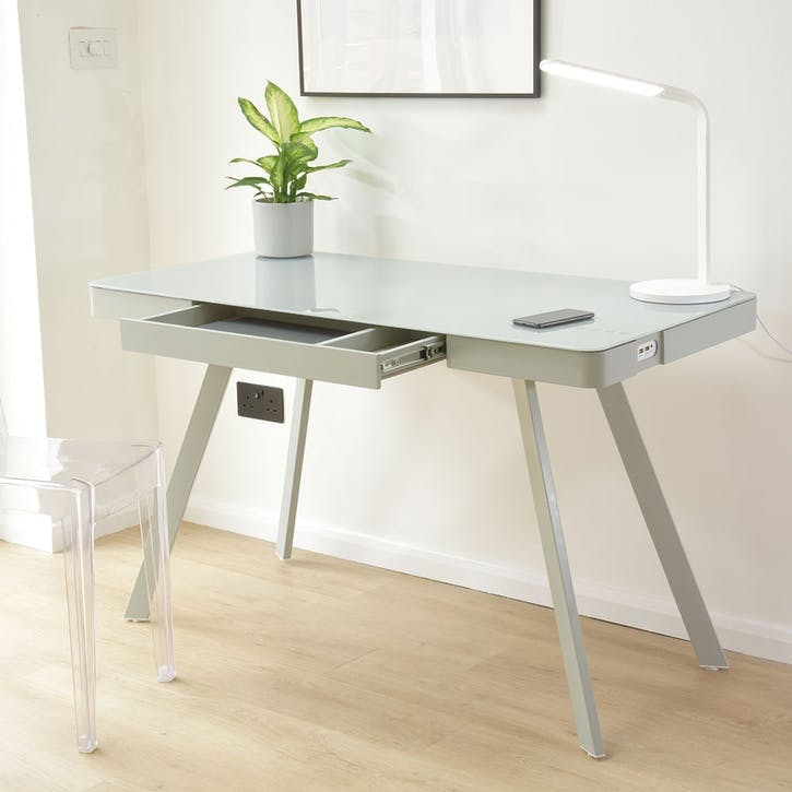 Silas 2.0 Smart Desk, Light Grey
