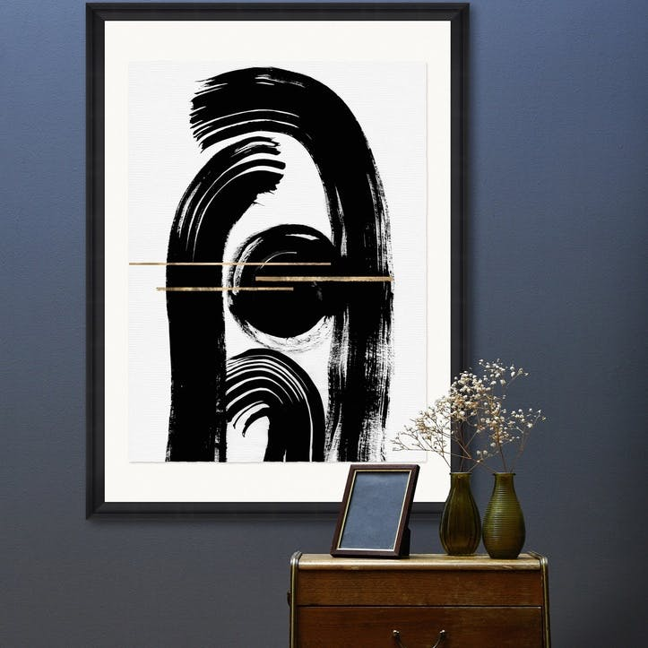 Gestural Abstraction II Black Framed Print, 70 x 100cm