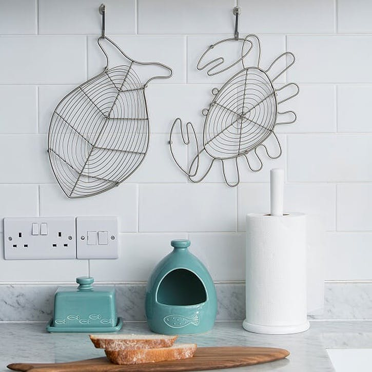 Ocean Fish Trivet, Satin Grey
