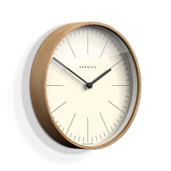 Mr Clarke Wall Clock, Dia. 40cm, Pale Wood