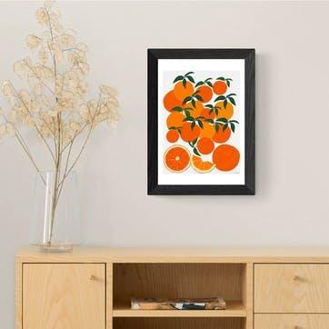 Leah Simpson, Orange Harvest Framed Art Print