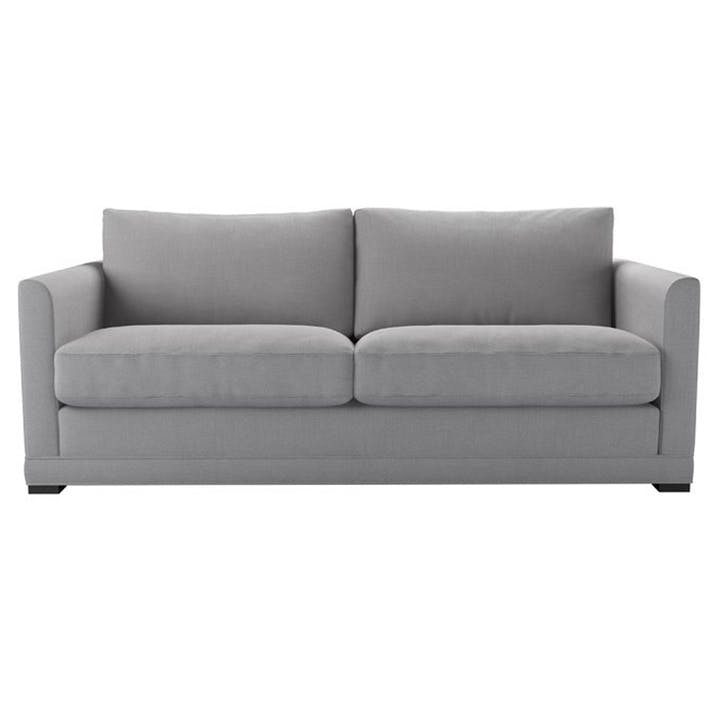 The Aissa Sofabed, Three Seat, Cobble Brushed Linen Cotton
