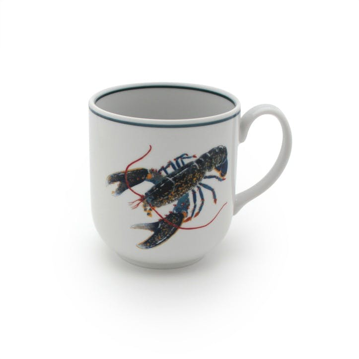 Seaflower Blue Lobster Mug, 10cm, Blue