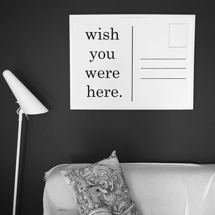 'Wish You Were Here' Print - 50 x 70cm