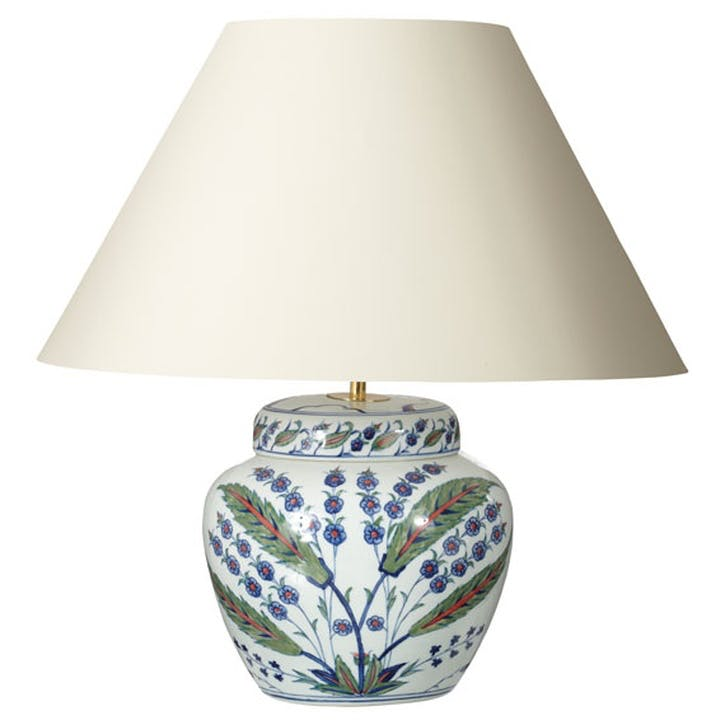 Iznik Urn Table Lamp
