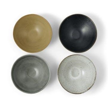 Hai set of 4 ramen bowls, H82 x W217 x D90cm, Multi