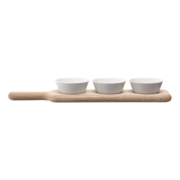 LSA Paddle Bowl Set & Oak Paddle