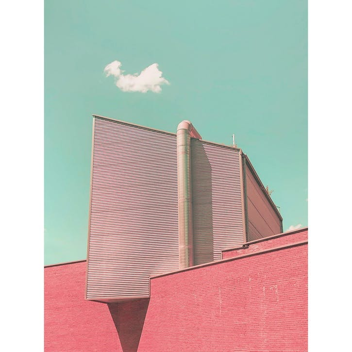 Surreal Minimal Architecture ChromaLuxe Metal Print, H41 x W30cm, Multi