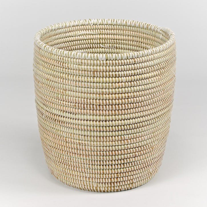 Handwoven Wastepaper Basket, Natural