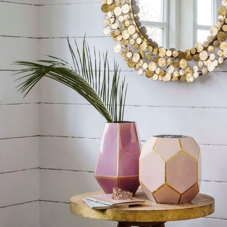 Rose Geometric Vase