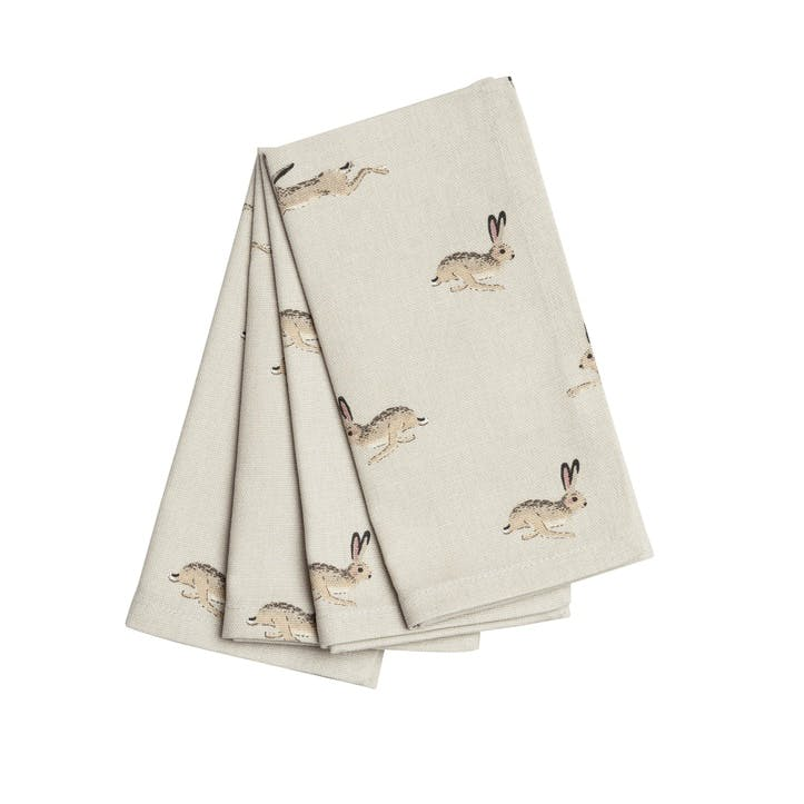 'Hare' Napkins, Set of 4