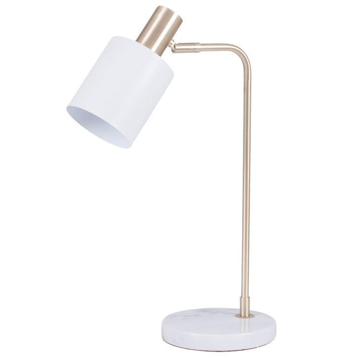 Addison Task Desk Lamp; Marble & Gold