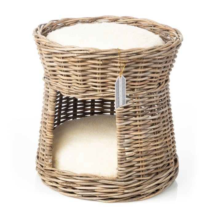 Rattan Double Bed Cat Basket