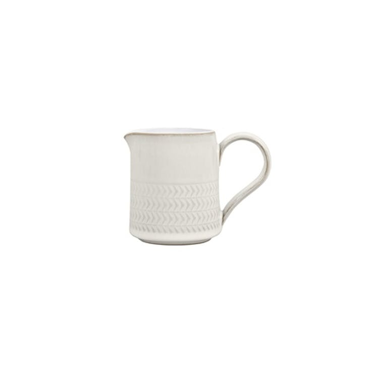 Natural Canvas Textured Jug, 220ml, Cream