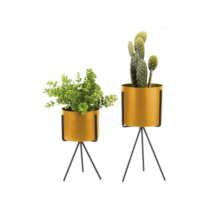 Standing Metal Planter, Set of 2