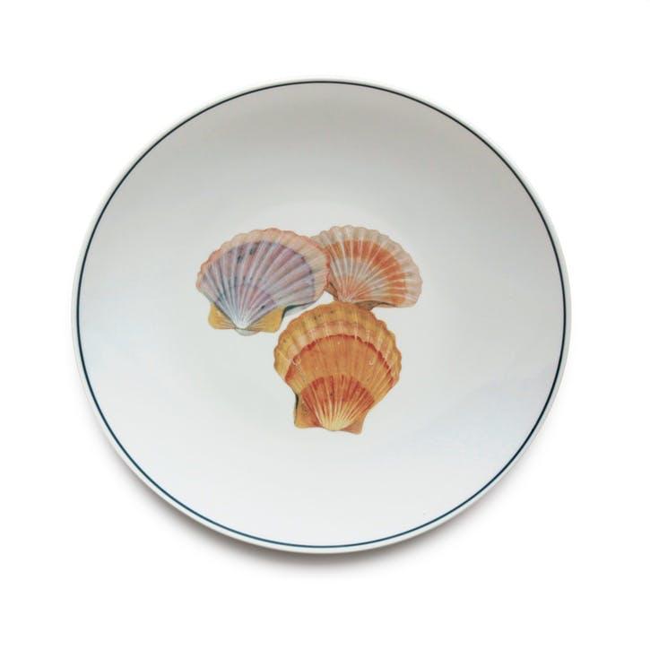 Seaflower Scallop Dinner Plate, 28cm, Multi