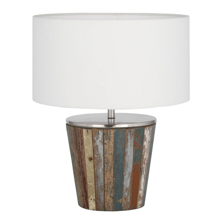 Reclaimed Wood Tapered Table Lamp