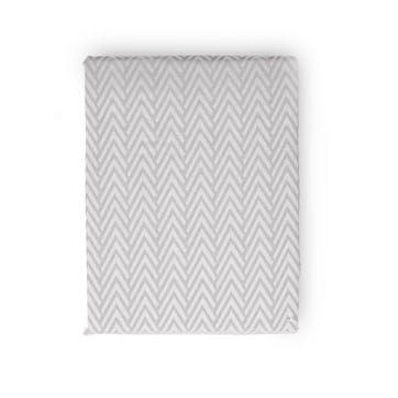 Herringbone Grey King Duvet Cover