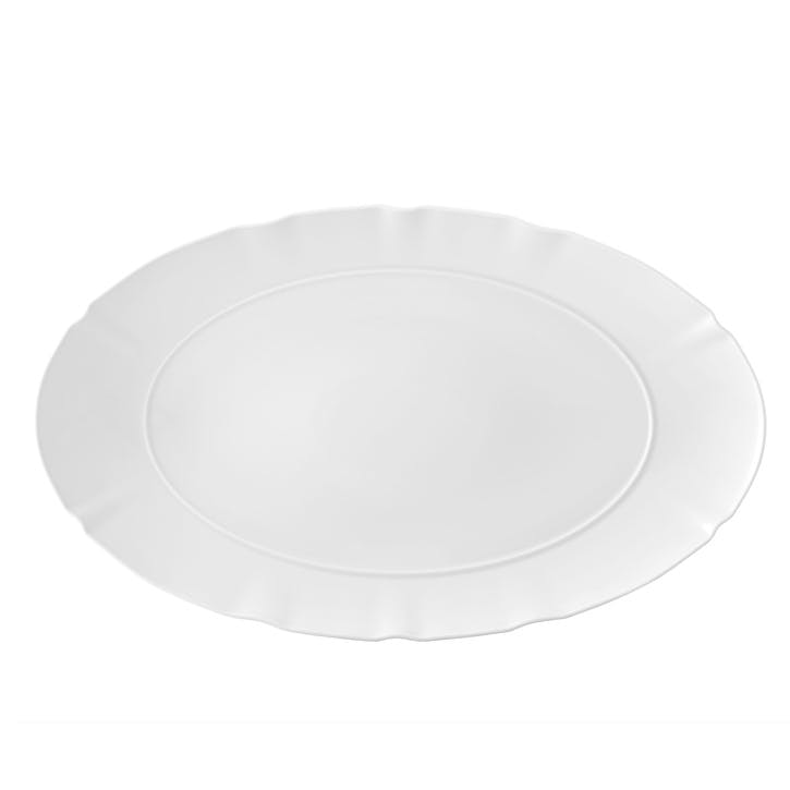 Crown White Large Oval Platter