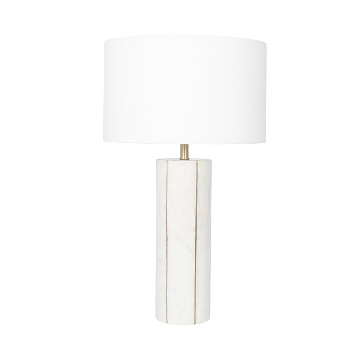 Venetia Marble and Gold Metal Tall Table Lamp