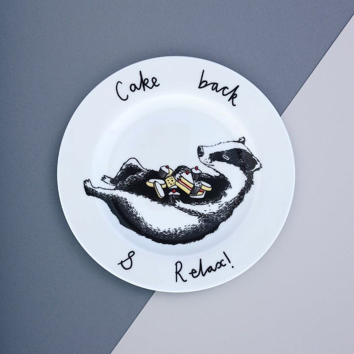 'Cake Back & Relax' Side Plate
