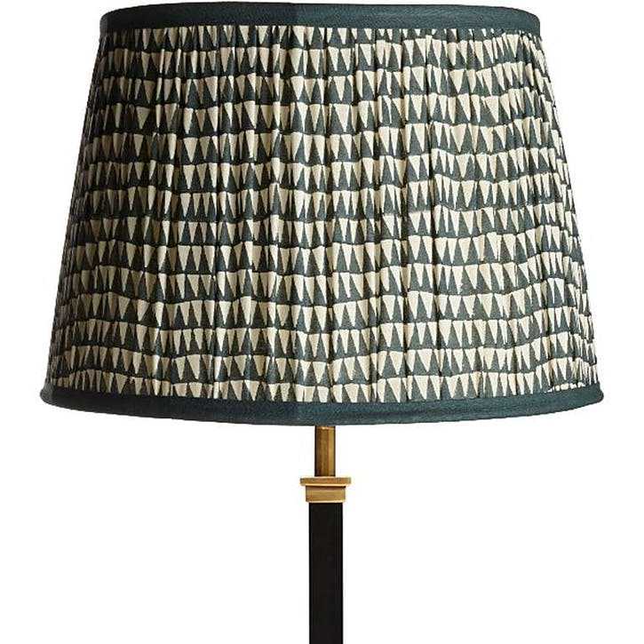 Straight Empire Gathered Lampshade, Savannah, 30cm