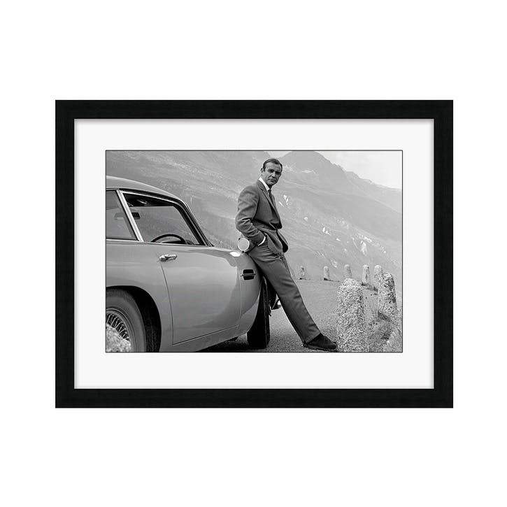 James Bond Aston Martin Framed Print, 68.6 x 88.6cm