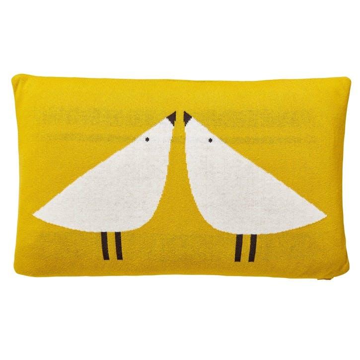 Lintu Bird Cushion, Dandelion & Pebble