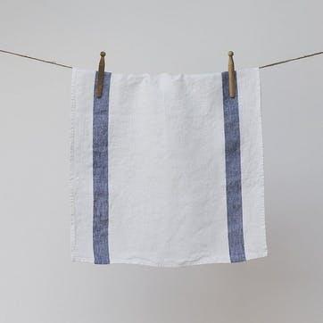 Arles Tea Towel, Navy Stripe